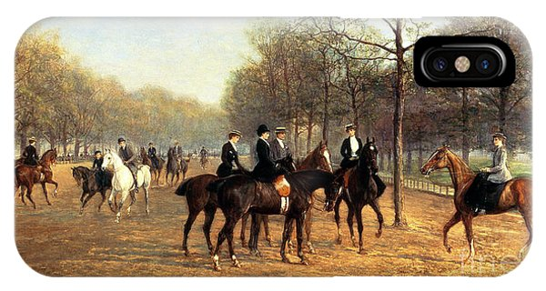 The Morning Ride Rotten Row Hyde Park IPhone Case