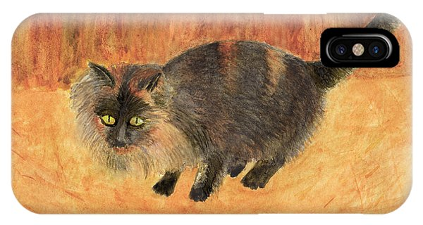 The Mouser, Barn Cat Watercolor IPhone Case