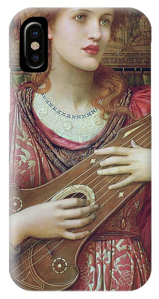 Strum iPhone Case - The Music Faintly Falling Dies Away by John Melhuish Strudwick