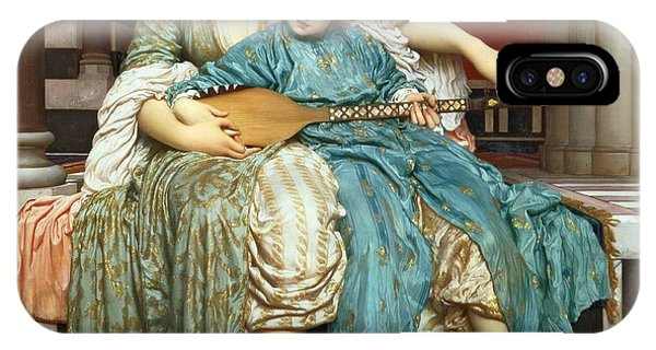 1877 iPhone Case - The Music Lesson by Frederic Leighton