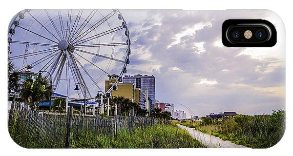 The Myrtle Beach, South Carolina Skywheel At Sunrise. IPhone Case