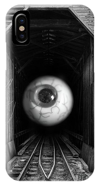 Trestle iPhone Case - The Mystical Eye Sees All And Knows All by Edward Fielding