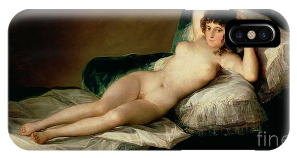Nudes iPhone X Case - The Naked Maja by Goya