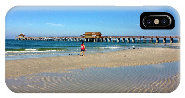 The Naples Pier At Low Tide IPhone Case
