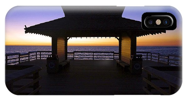 The Naples Pier At Twilight - 02 IPhone Case