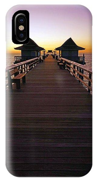 The Naples Pier At Twilight IPhone Case