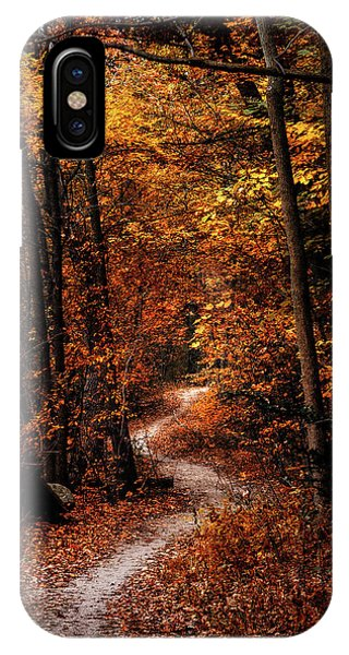 Amber iPhone Case - The Narrow Path by Scott Norris