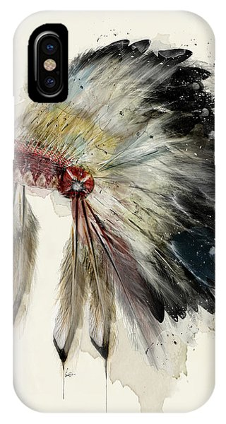 Feathers iPhone Case - The Native Headdress by Bri Buckley