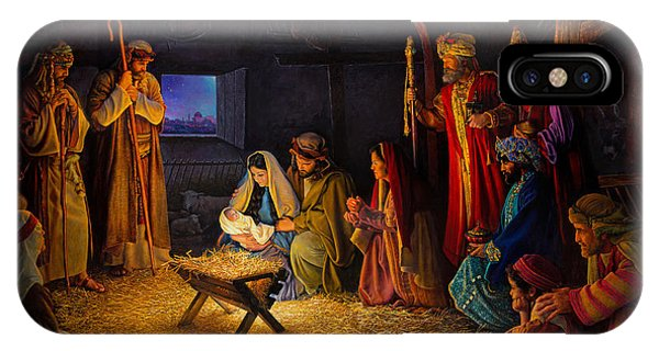 Men iPhone Case - The Nativity by Greg Olsen