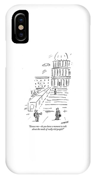 Capitol Building iPhone Case - The Needs Of Really Rich People by David Sipress