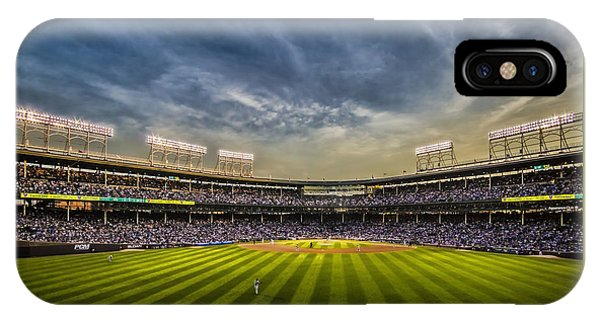 The New Wrigley Field With Pretty Sunset Sky IPhone Case