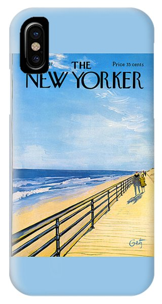 Walk iPhone Case - The New Yorker Cover - April 1st, 1967 by Arthur Getz