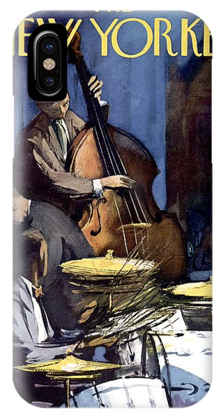 Musical iPhone Case - The New Yorker Cover - January 4th, 1958 by Arthur Getz