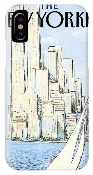 The New Yorker Cover - July 19th, 1982 IPhone X Case