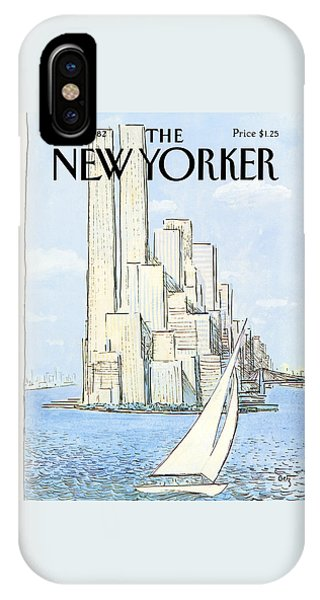 Sailboats iPhone Case - The New Yorker Cover - July 19th, 1982 by Arthur Getz
