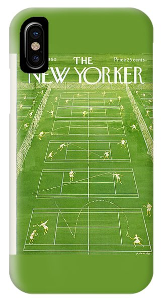 Tennis iPhone Case - The New Yorker Cover - June 25th, 1960 by Anatol Kovarsky