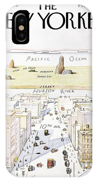 Urban iPhone Case - New Yorker March 29, 1976 by Saul Steinberg