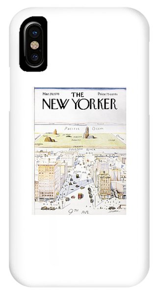 New Jersey iPhone Case - New Yorker March 29, 1976 by Saul Steinberg