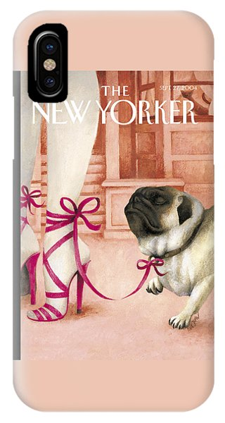 Pug iPhone X Case - The New Yorker Cover - September 27th, 2004 by Ana Juan