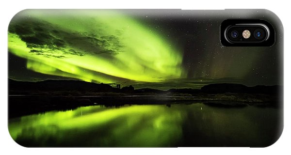 The Northern Lights Thingvellir IPhone Case