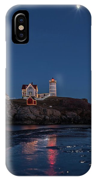 The Nubble Waiting For Snow IPhone Case