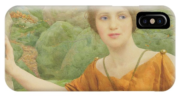 Again iPhone Case - The Nymph by Thomas Cooper Gotch