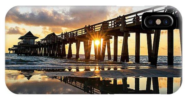Naples Pier At Sunset Naples Florida IPhone Case