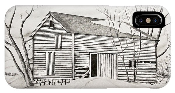 The Old Barn Inwinter IPhone Case