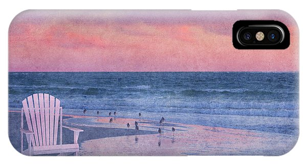 Sandpiper iPhone Case - The Old Beach Chair by Betsy Knapp