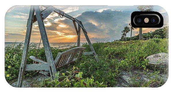 The Old Beach Swing -  Sullivan's Island, Sc IPhone Case
