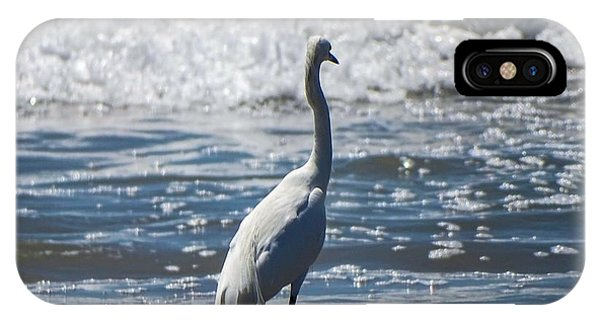 Egret And The Waves IPhone Case