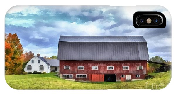 New England Barn iPhone Case - The Old Dairy Barn Etna New Hampshire by Edward Fielding