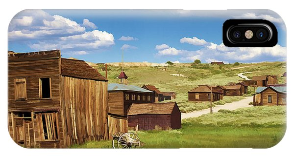 Bodie Ghost Town iPhone Case - The Old Hotel by Ricky Barnard