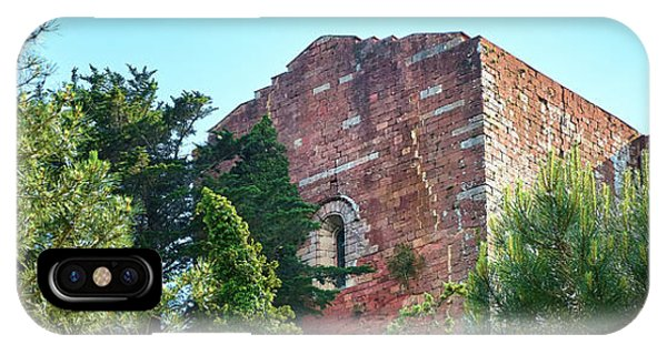 The Old Monastery Of Escornalbou Surrounded By Trees In Spain IPhone Case