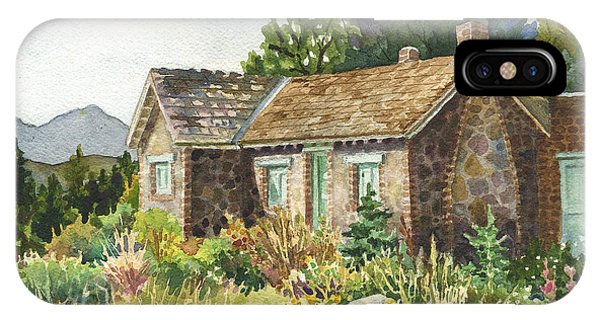 Rocky Mountain iPhone Case - The Old Moore House At Caribou Ranch by Anne Gifford