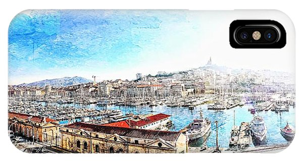 The Old Port Of Marseille  2 IPhone Case