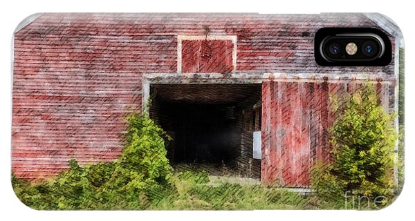New England Barn iPhone Case - The Old Red Barn At Nutt Farm Etna Nh by Edward Fielding