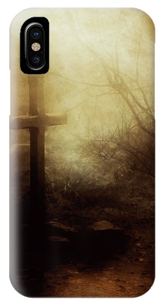 Old Rugged Cross iPhone Case - The Old Rugged Cross by KaFra Art