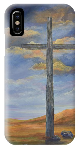 Old Rugged Cross iPhone Case - The Old Rugged Cross by Malanda Warner