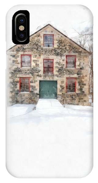 Shaker iPhone Case - The Old Stone Barn Enfield New Hampshire by Edward Fielding