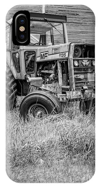 New England Barn iPhone Case - The Old Tractor By The Old Round Barn II by Edward Fielding