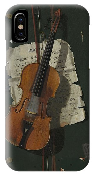 Violin iPhone X Case - The Old Violin by John Frederick Peto
