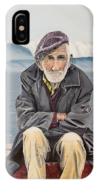 IPhone Case featuring the painting The Old Waterman by Kevin Daly