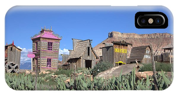 The Old Western Town  IPhone Case
