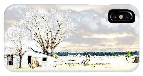 IPhone Case featuring the photograph The Old Winter Homestead by Beauty For God