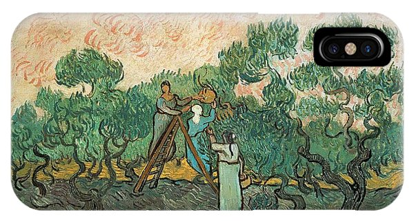 Impressionism iPhone X Case - The Olive Pickers by Vincent van Gogh