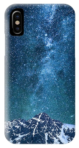 Fourteener iPhone Case - The One Who Holds The Stars by Aaron Spong