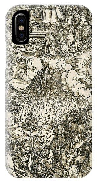Albrecht Durer iPhone Case - The Opening Of The Sixth Seal  by Albrecht Durer