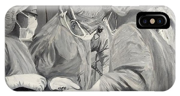 IPhone Case featuring the painting The Operation by Kevin Daly