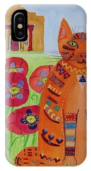 the Orange Alamo Cat IPhone Case